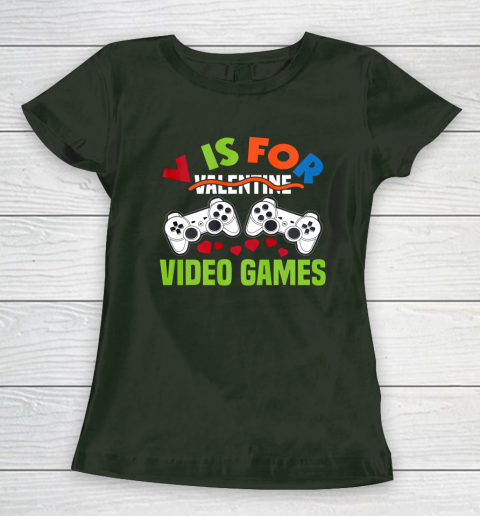 Funny Video Games Lover Valentine Day Women's T-Shirt 4