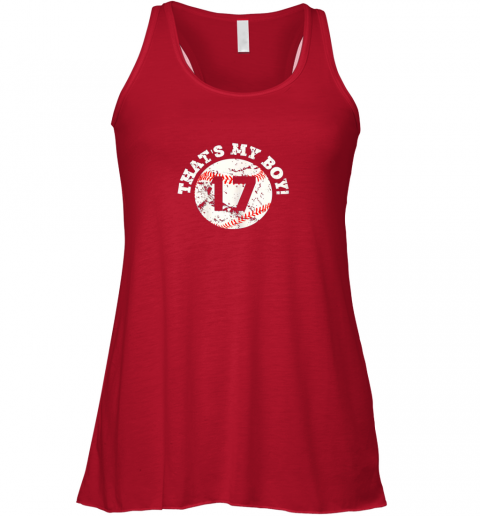 f1xo that39 s my boy 17 baseball player mom or dad gift flowy tank 32 front red