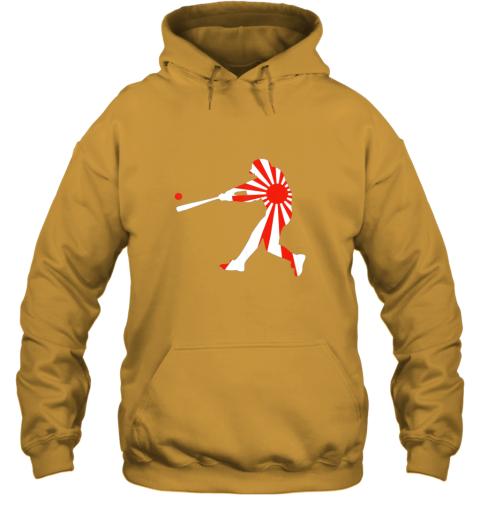 xlvo japan baseball shirt jpn batter classic nippon flag jersey hoodie 23 front gold
