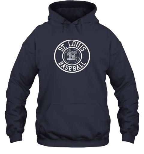 ybwr vintage st louis baseball missouri cardinal badge gift hoodie 23 front navy