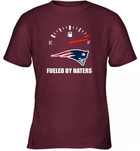 kulz fueled by haters maximum fuel new england patriots youth t shirt 26 front maroon