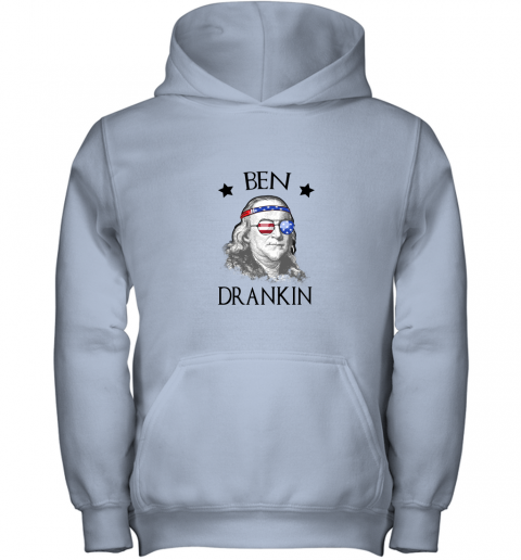 Day 4th Of July Ben Drankin Benjamin Franklin Youth Hoodie