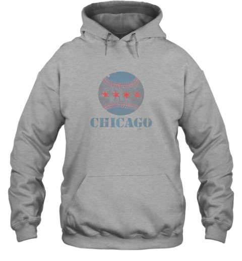 sqmh vintage chicago baseball flag hoodie 23 front sport grey