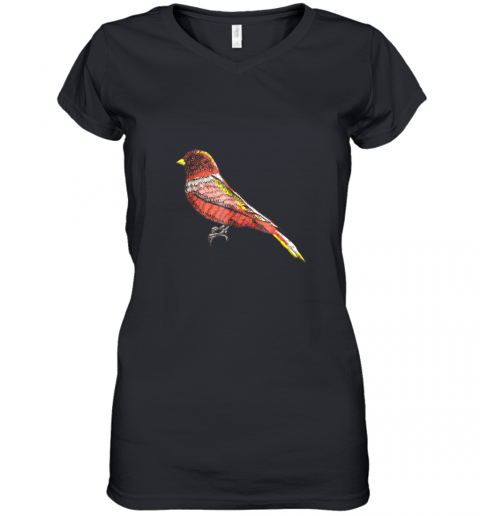 Beautiful Bird Lover Graphic Art TShirt Men Women Kids Women's V-Neck T-Shirt