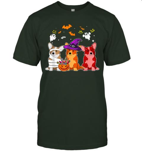 Three Corgi Dogs Halloween Shirt Dog Halloween Gift T-Shirt