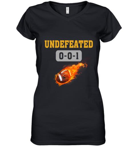 NFL JACKSONVILLE JAGUARS Logo Undefeated Women's V-Neck T-Shirt