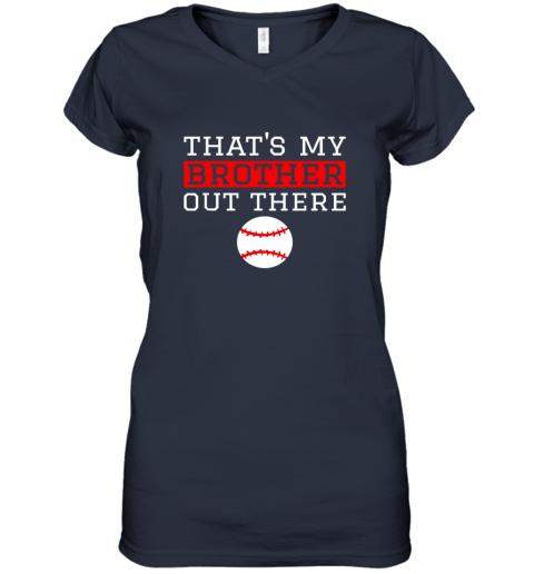 96j7 sister baseball gift that39 s my brother baseball sister women v neck t shirt 39 front navy