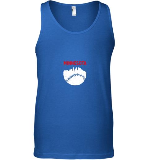 zzos retro minnesota baseball minneapolis cityscape vintage shirt unisex tank 17 front royal
