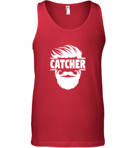 y8to bearded baseball catcher unisex tank 17 front red