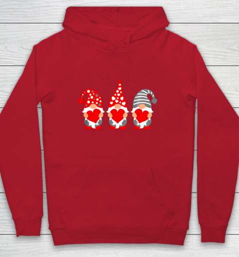 Gnomes Hearts Valentine Day Shirts For Couple Hoodie 7