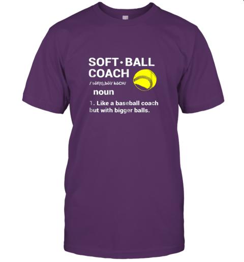 l2tp soft ball coach like baseball bigger balls softball jersey t shirt 60 front team purple