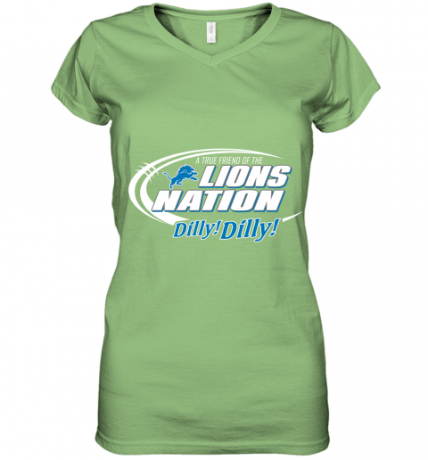 tfvl a true friend of the lions nation women v neck t shirt 39 front lime