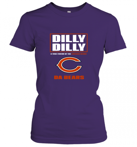 rojk dilly dilly a true friend of the chicago bears ladies t shirt 20 front purple