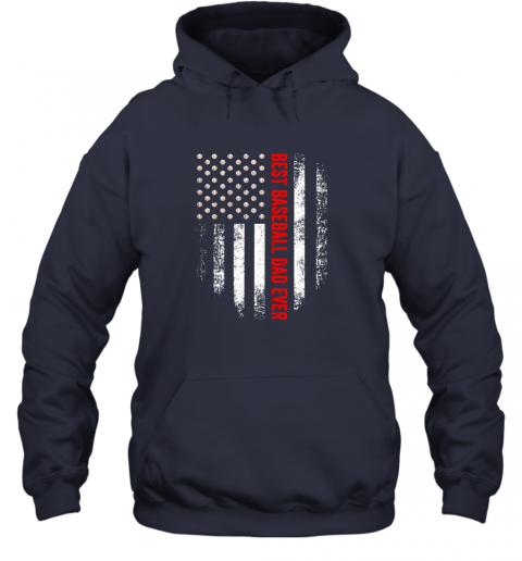 2skq vintage usa best baseball dad ever american flag daddy gift hoodie 23 front navy
