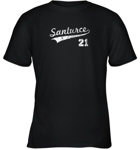 Vintage Distressed Santurce 21 Puerto Rico Baseball Youth T-Shirt