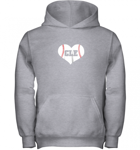 2q5b cleveland ohio baseball love heart cle gift jersey fan youth hoodie 43 front sport grey