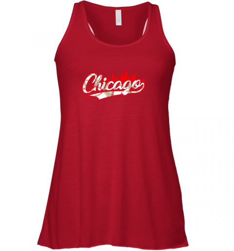 gl7y chicago vintage baseball flowy tank 32 front red