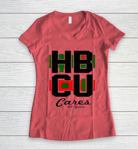 HBCU Cares College University Graduation Gift Black School Women's V-Neck T-Shirt 3