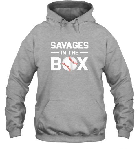 mtxq savages in the box shirt baseball gift hoodie 23 front sport grey