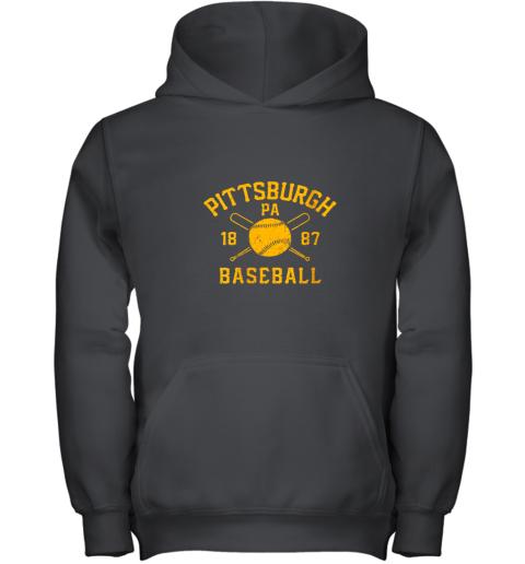 Vintage Pittsburgh Baseball Pennsylvania Pirate Retro Gift Youth Hoodie