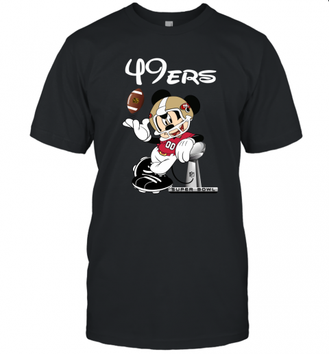 Mickey 49ers Taking The Super Bowl Trophy Football Unisex Jersey Tee