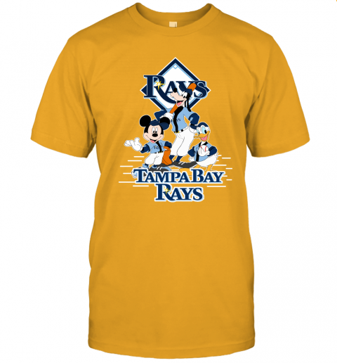 ht9i tampa bay rays mickey donald and goofy baseball jersey t shirt 60 front gold