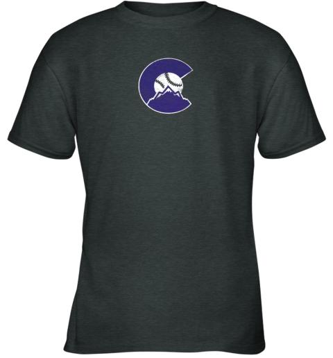 u72s colorado rocky mountain baseball sports team youth t shirt 26 front dark heather