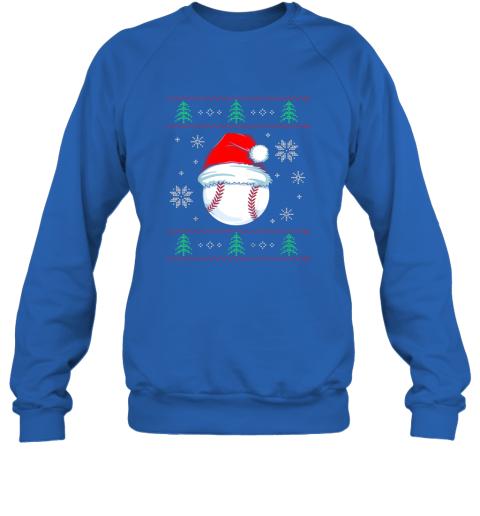 wxru ugly christmas baseball shirt boys kids ball santa pajama sweatshirt 35 front royal