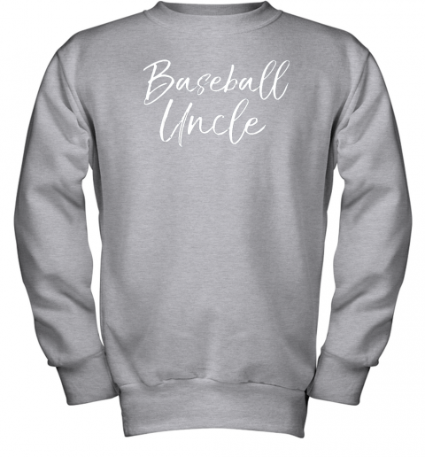 kyqt baseball uncle shirt for men cool baseball uncle youth sweatshirt 47 front sport grey