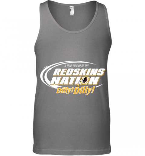 q3mm a true friend of the redskins nation unisex tank 17 front graphite heather
