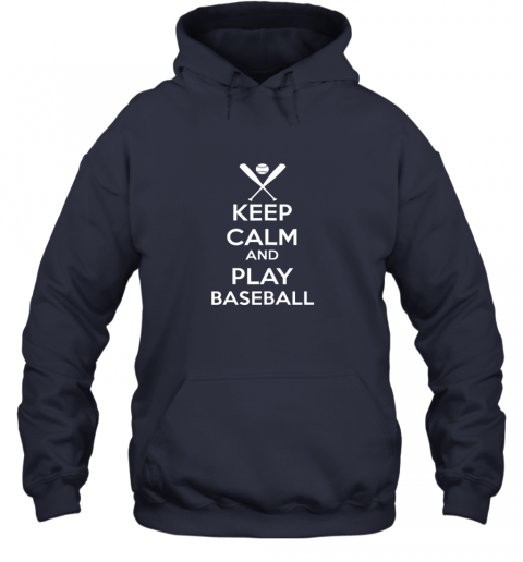 jsta keep calm and play baseball hoodie 23 front navy