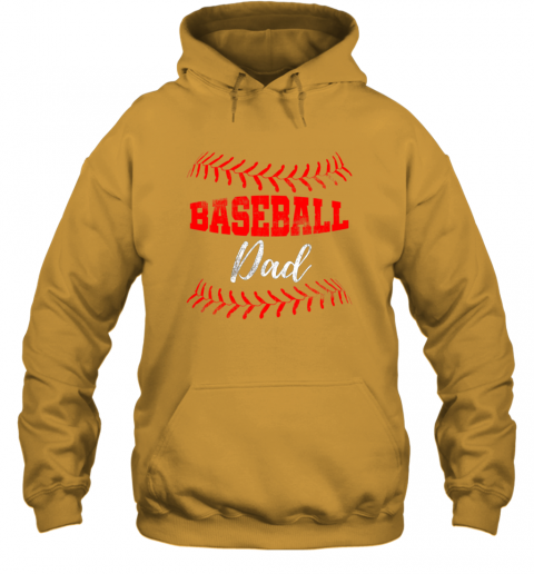 xt3q mens baseball inspired dad fathers day hoodie 23 front gold