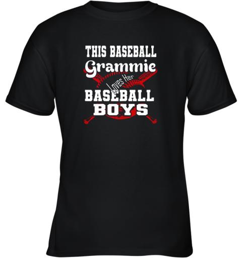 This Baseball Grammie Loves Her Baseball Boys Youth T-Shirt