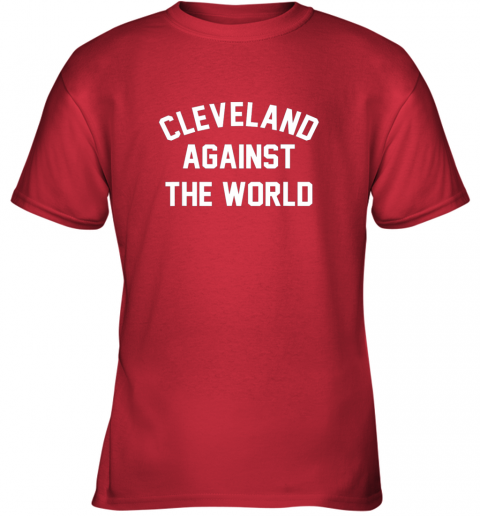 96mq cleveland against the world football baseball basketball youth t shirt 26 front red
