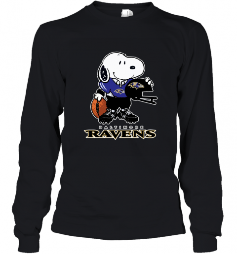 Snoopy A Strong And Proud Baltimore Ravens NFL Youth Long Sleeve