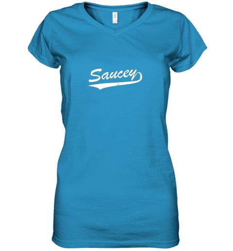 sgok saucey swag baseball women v neck t shirt 39 front sapphire