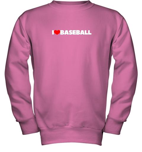 valw i love heart baseball youth sweatshirt 47 front safety pink