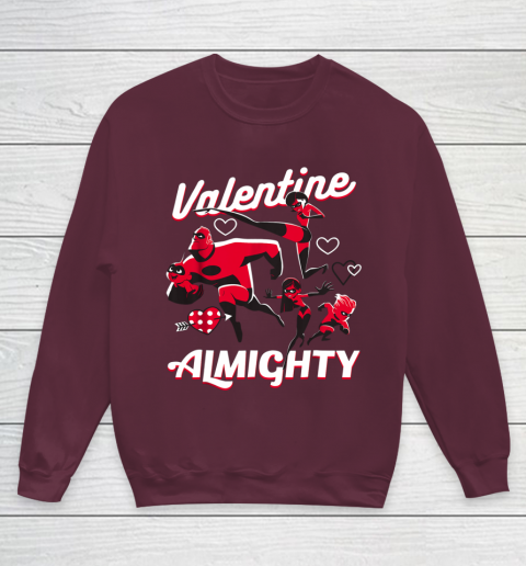 Disney Pixar Incredibles Family Valentine Almighty Youth Sweatshirt 4