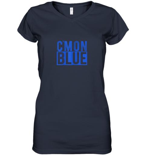 qwwy cmon blue umpire baseball fan graphic lover gift women v neck t shirt 39 front navy