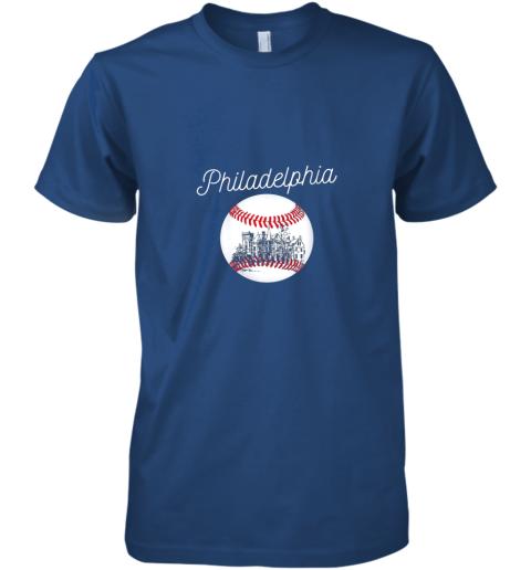pttx philadelphia baseball philly tshirt ball and skyline design premium guys tee 5 front royal