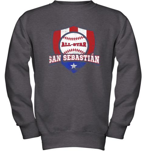 o6tm san sebastian puerto rico puerto rican pr baseball youth sweatshirt 47 front dark heather