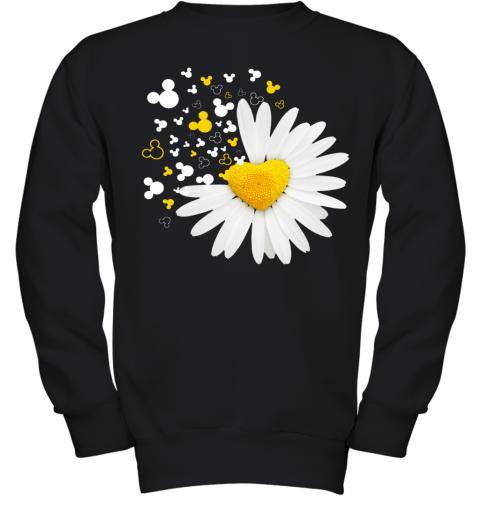 Mickey Head Oxeye Daisy Flower Youth Sweatshirt