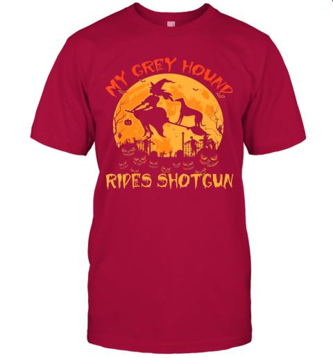 My Greyhound Rides Shotgun Halloween Funny Dog Lover T-Shirt