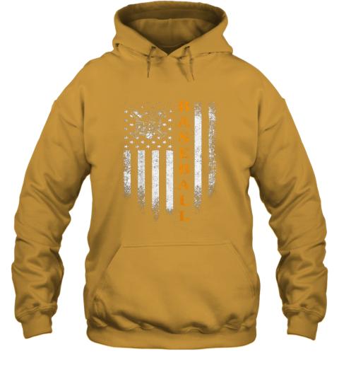 0keh vintage usa baseball distressed american flag patriotic gift hoodie 23 front gold
