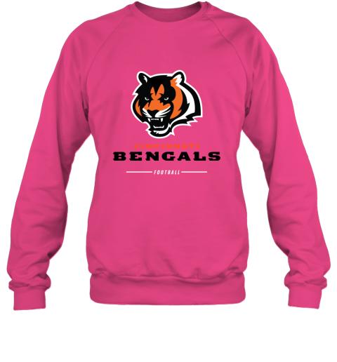 pkng cincinnati cengals nfl pro line black team lockup sweatshirt 35 front heliconia