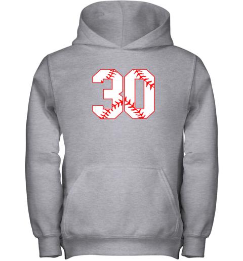 mn4l thirtieth birthday party 30th baseball shirt born 1989 youth hoodie 43 front sport grey