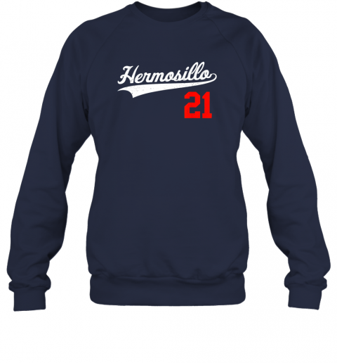 ayvc hermosillo shirt in baseball style for mexican fans sweatshirt 35 front navy