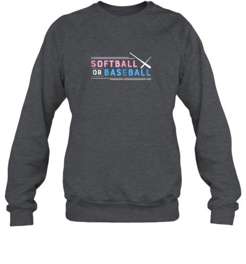 w7zm softball or baseball shirt sports gender reveal sweatshirt 35 front dark heather