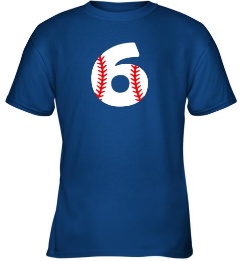 idry sixth birthday 6th baseball shirtnumber 6 born in 2013 youth t shirt 26 front royal