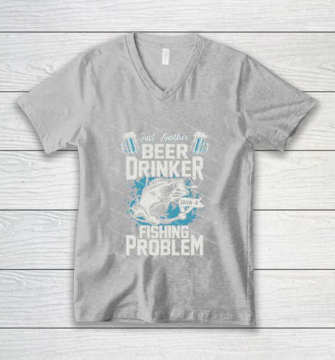 Beer Lover Funny Shirt Fishing ANd Beer V-Neck T-Shirt 3